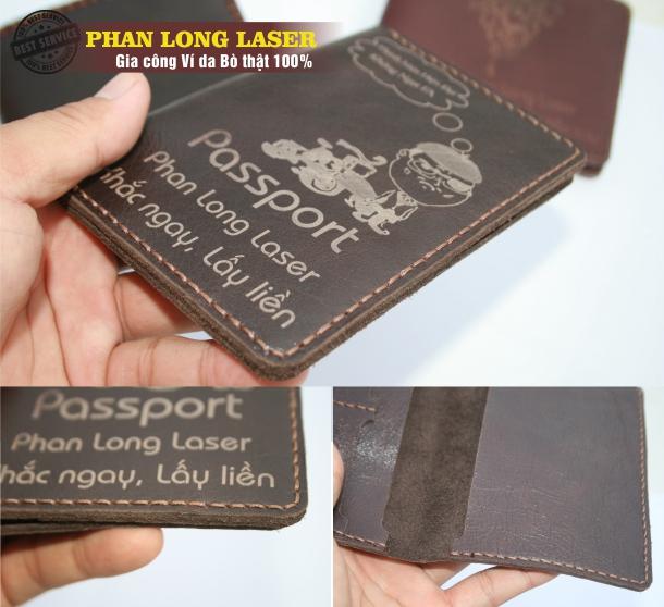 Bóp da thật 100% đượng Hộ chiếu Khắc chữ tại TPHCM Sài Gòn Hà Nội Cần Thơ Đà Nẵng