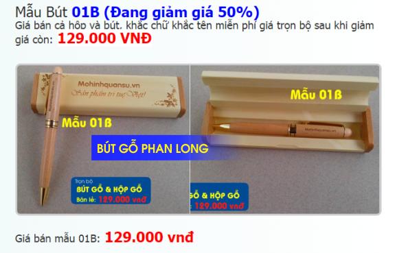 Viết gỗ giá rẻ tại Hà Nội TPHCM & Cần Thơ
